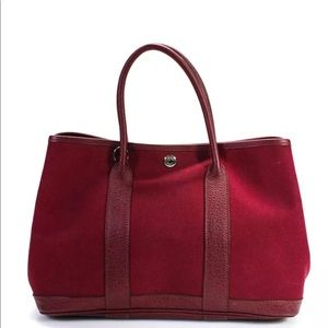 Hermes Toile Canvas Garden Party TPM Tote